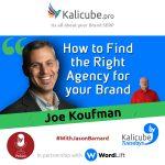 Joe Koufman with Jason Barnard at Kalicube Tuesdays
